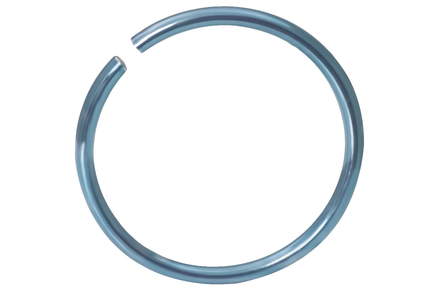 Titanium Anodized Light Blue Nose Hoop