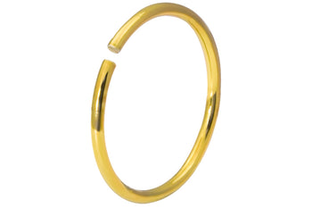 Titanium Anodized Gold Small Nose Hoop