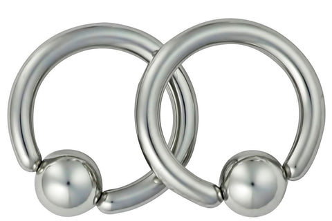 Pair of Captive Bead Rings