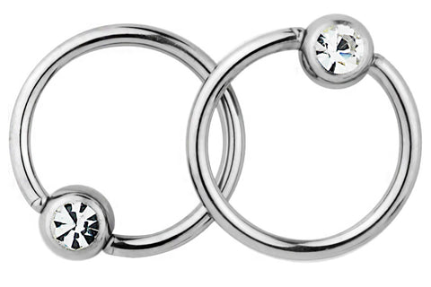 These 16 gauge rings are hypoallergenic and nickel free. They can be worn in a variety of 16 gauge body piercings.