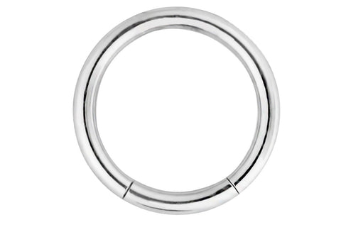 This 16 gauge segment hoop ring is hypoallergenic and nickel free. It can be worn in a variety of 16 gauge body piercings.