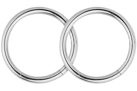 Segment Hoop Earrings
