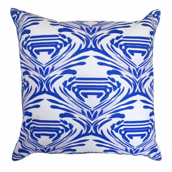 Indoor/Outdoor Pillow - Watercolor (Cobalt) - The Blush Label
