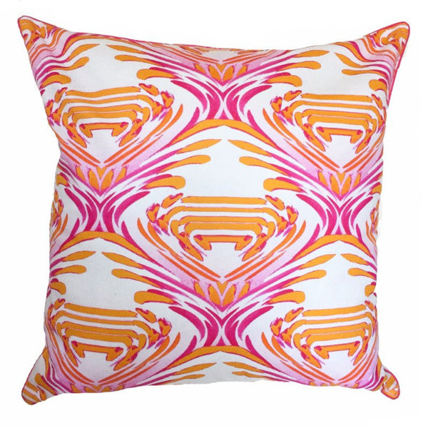 Indoor/Outdoor Pillow - Watercolor (Pink/Orange) - The Blush Label