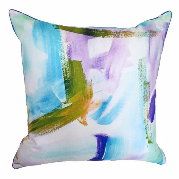Indoor/Outdoor Pillow - Cotton Candy (Blue) - The Blush Label
