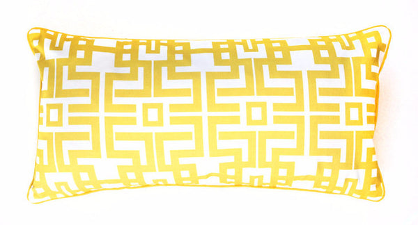Pillow - Aztec Lumbar (Gold)