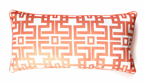 Pillow - Aztec Lumbar (Coral)