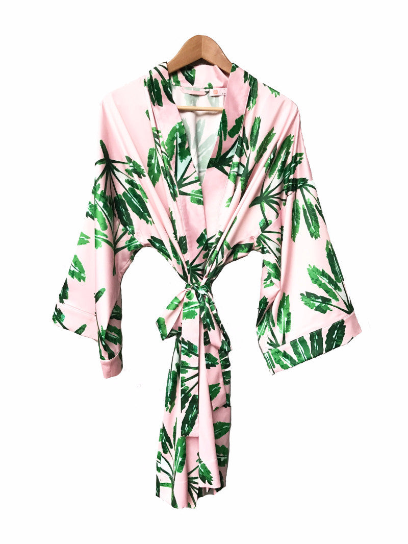 Kimono Robe - Little Palms - The Blush Label