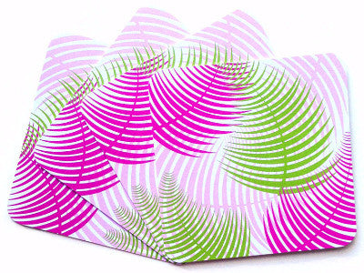 Coasters - Gillian Fern (Pink/Green) - The Blush Label