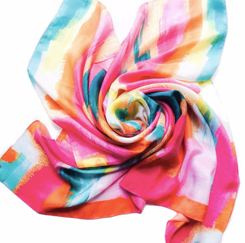 Silk Scarf - Bombay - The Blush Label - Vibrant Resort Wear & Home Decor