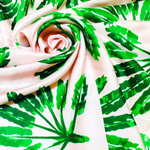 Silk Scarf - Little Palms - The Blush Label