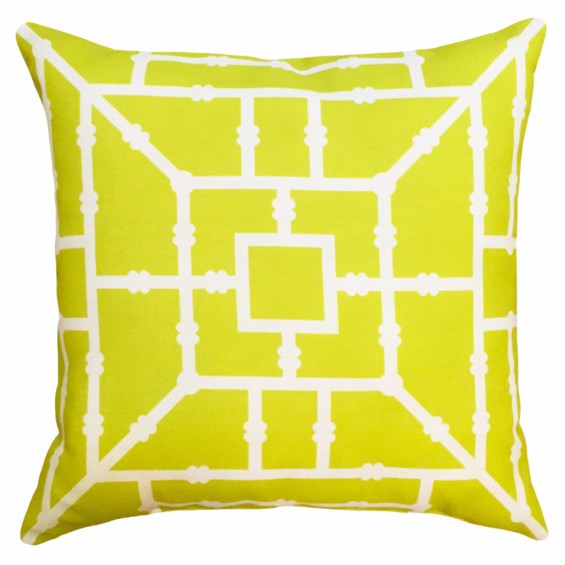 Indoor/Outdoor Pillow - Bamboo (Chartreuse) - The Blush Label