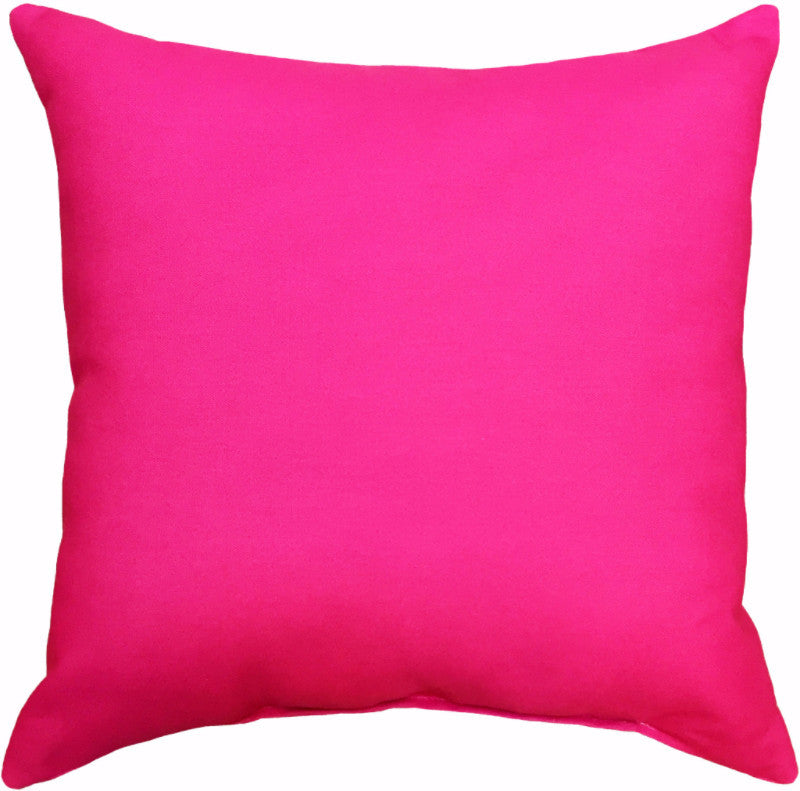 Indoor/Outdoor Pillow - Solid (Magenta) - The Blush Label
