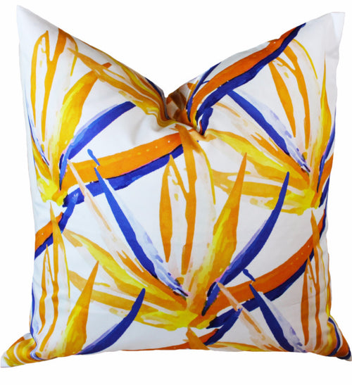 Pillow - Birds of Paradise - The Blush Label - Vibrant Resort Wear & Home Decor