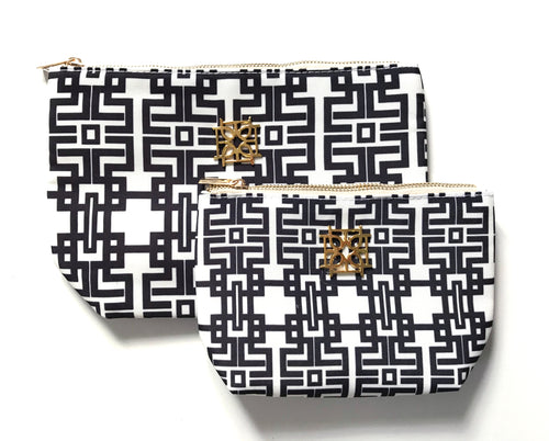 Cosmetic Case - Aztec (Black)