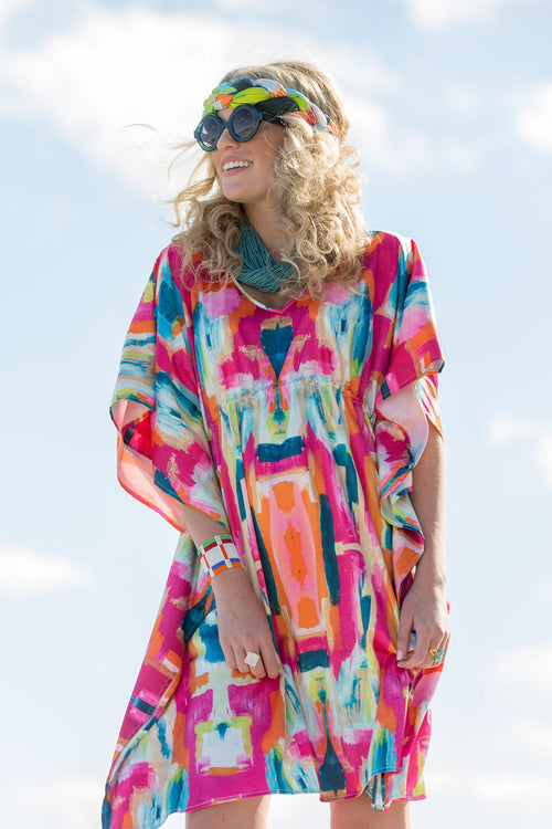 Caftan Dress - Bombay - The Blush Label - Vibrant Resort Wear & Home Decor