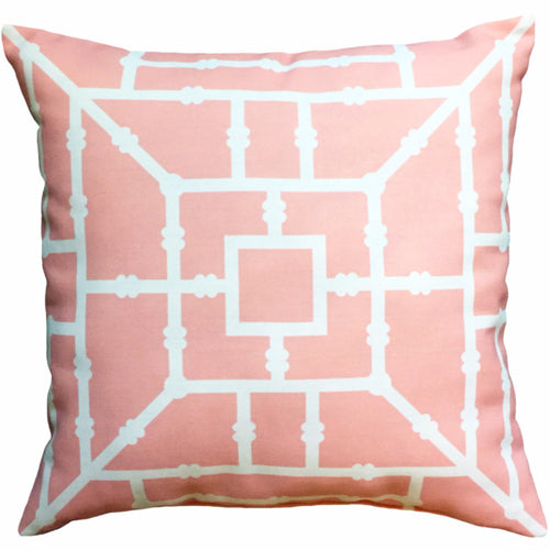 Pillow - Bamboo (Coral) - The Blush Label - Vibrant Resort Wear & Home Decor