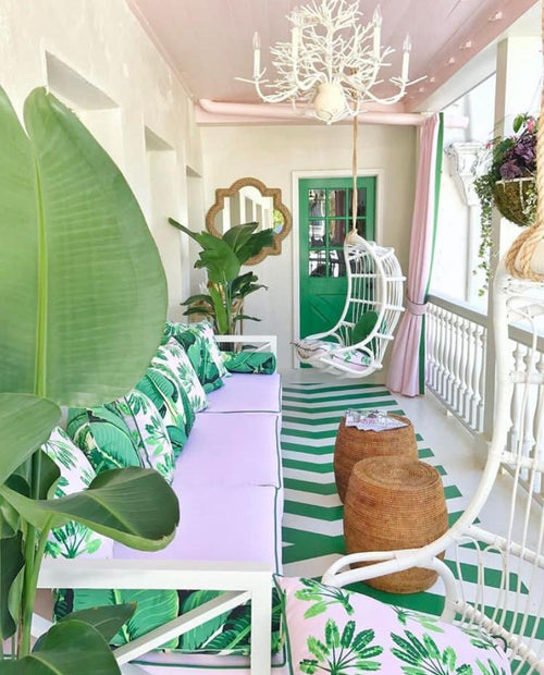 As seen in the 2017 Charleston Designer Showhouse. Porch design by Catherine Austin.