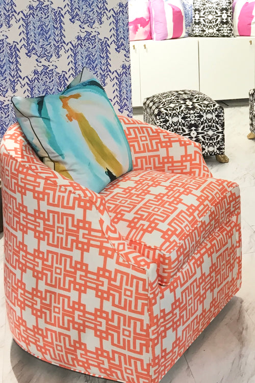 Fabric By The Yard - Aztec (Coral) - The Blush Label - Vibrant Resort Wear & Home Decor
