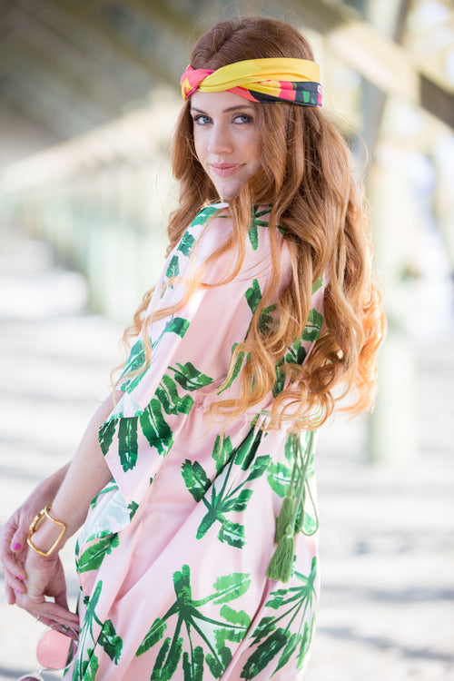 Caftan Dress - Little Palms - The Blush Label - Vibrant Resort Wear & Home Decor