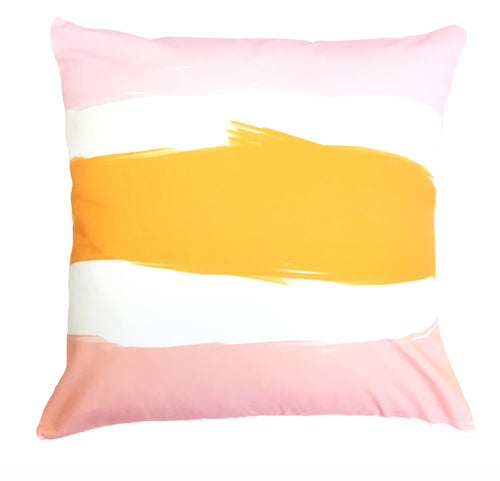 Indoor/Outdoor Pillow - Las Rayas (Coral) - The Blush Label - Vibrant Resort Wear & Home Decor