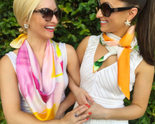 Silk Scarf - Palm Beach - The Blush Label - Vibrant Resort Wear & Home Decor
