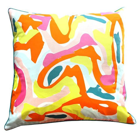 Pillow Cover - Las Rayas (Coral)