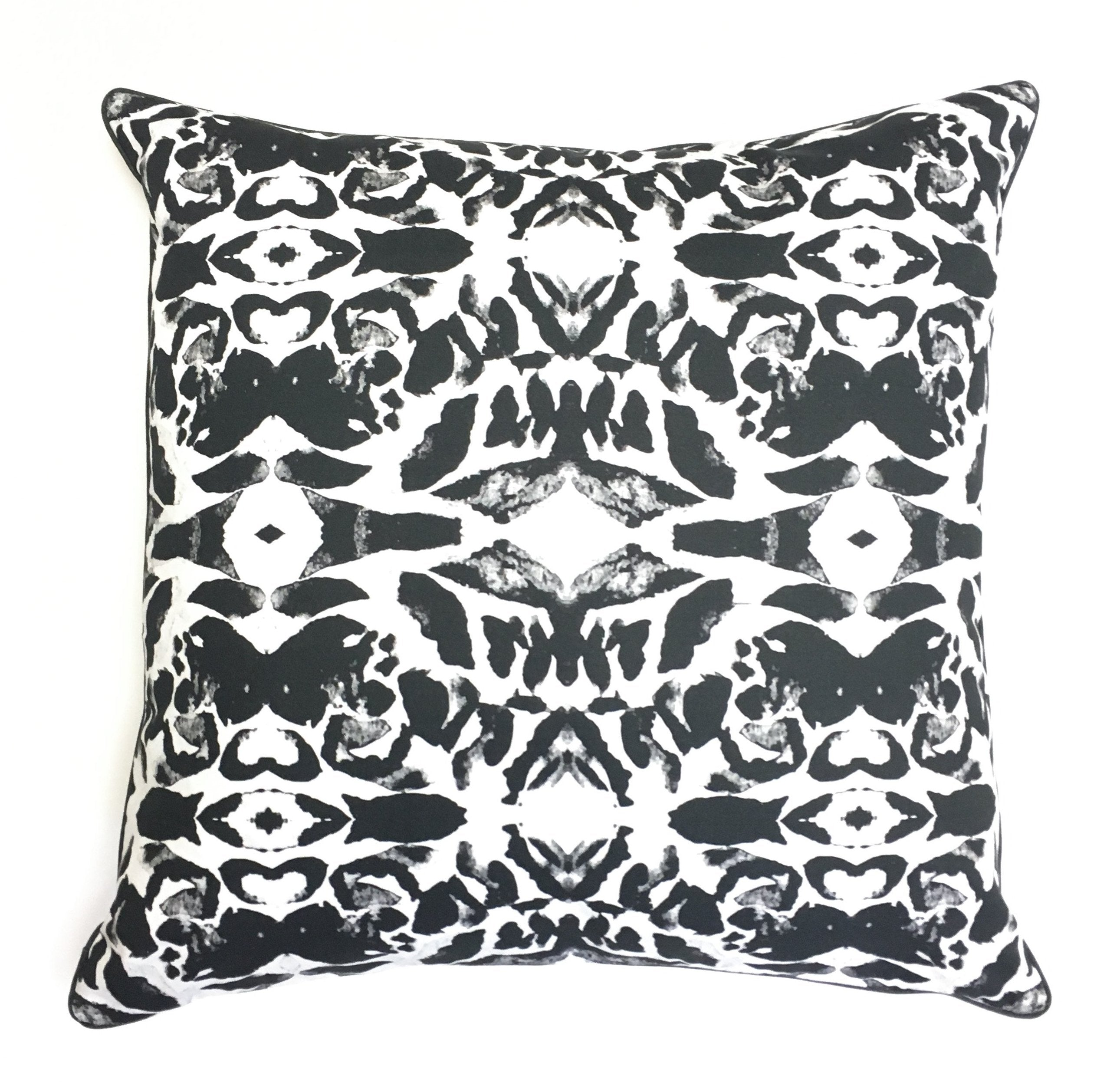 Pillow Cover - Moroccan (Black) - The Blush Label - Vibrant Resort Wear & Home Decor