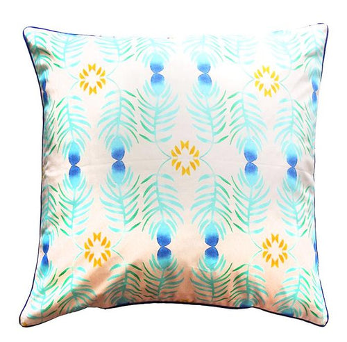 Pillow Cover - Peacock - The Blush Label - Vibrant Resort Wear & Home Decor