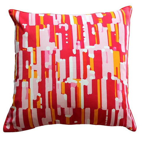 Pillow Cover - Aztec Lumbar (Coral)