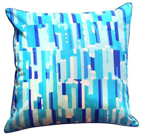 Pillow Cover - Seaglass (Blue) - The Blush Label - Vibrant Resort Wear & Home Decor