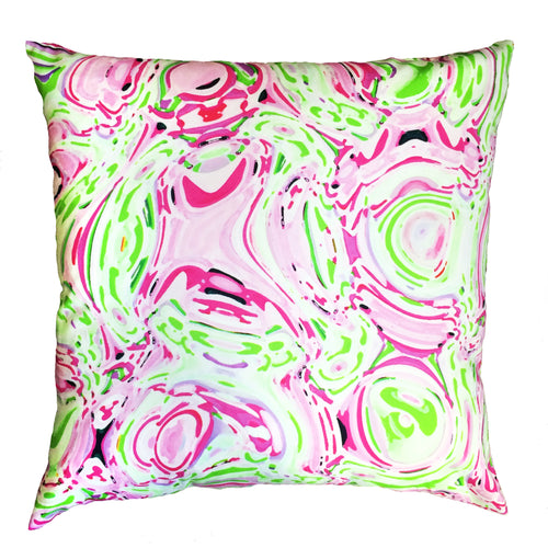 Pillow - Celia (Pink/Green) - The Blush Label - Vibrant Resort Wear & Home Decor