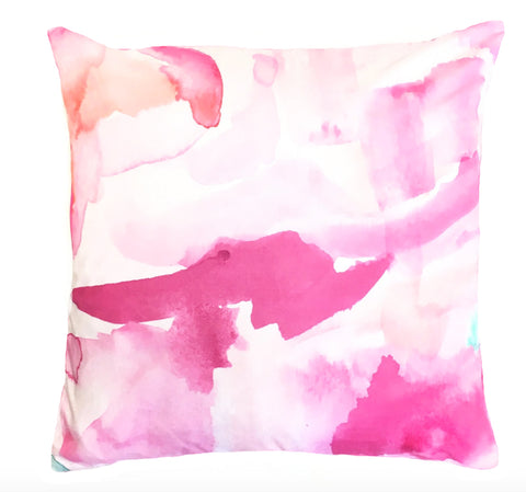 Indoor/Outdoor Pillow - Las Rayas (Coral)