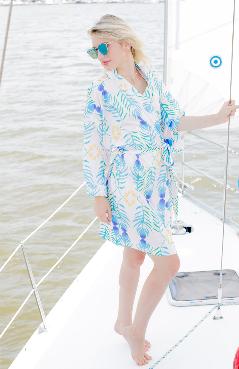 Robe - Peacock - The Blush Label - Vibrant Resort Wear & Home Decor