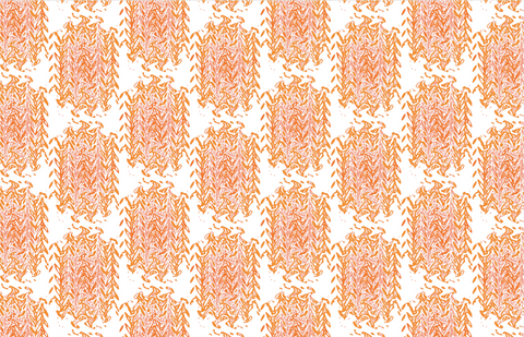 Fabric By The Yard - Orange Marble