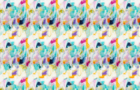 Fabric by the Yard - Dorado (Aqua & Coral)