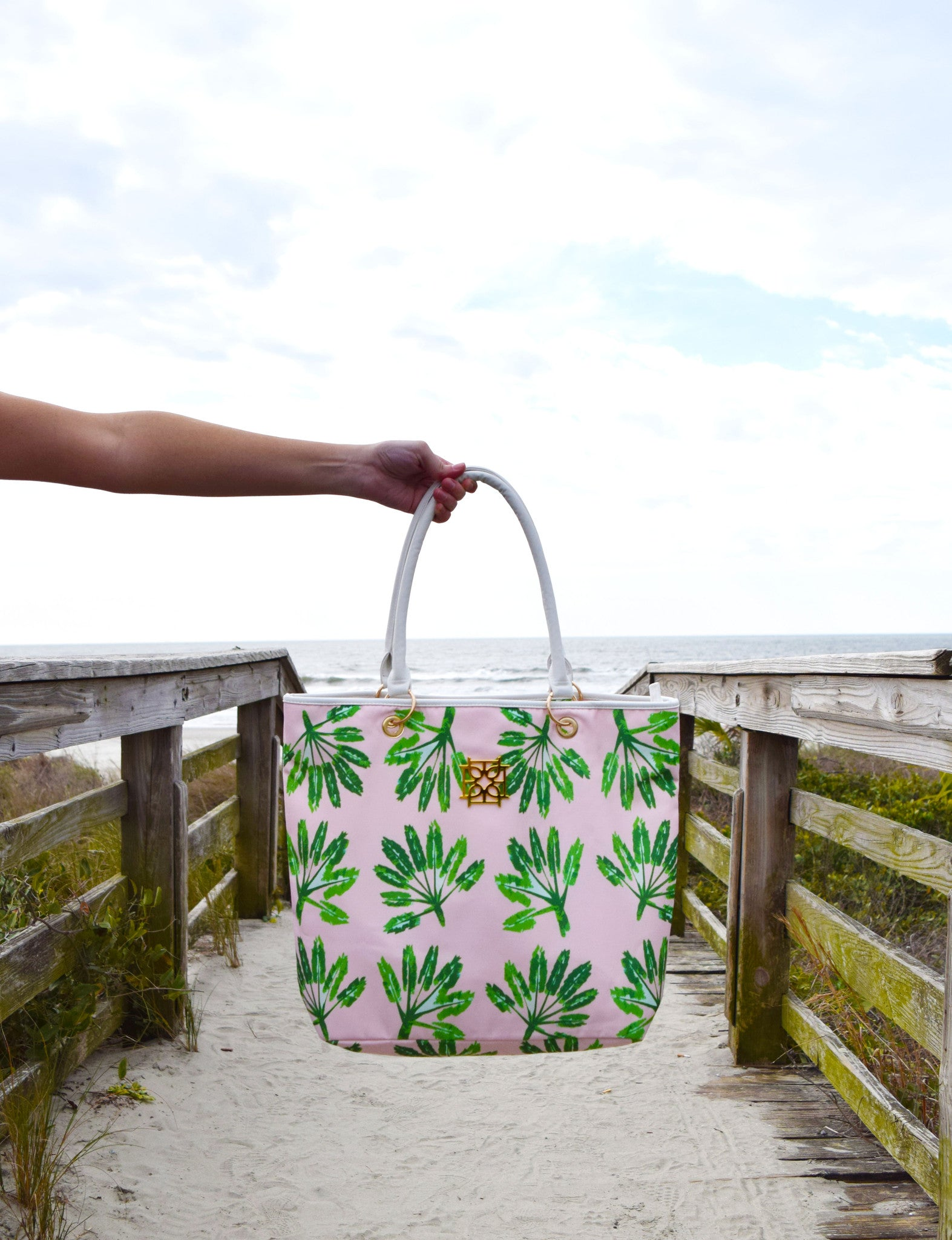 Beach Bag - Little Palms - The Blush Label