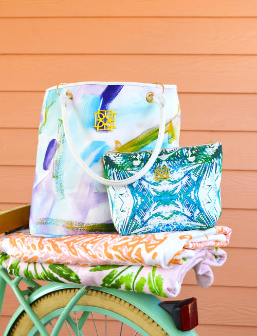 Beach Bag - Cotton Candy - The Blush Label - Vibrant Resort Wear & Home Decor