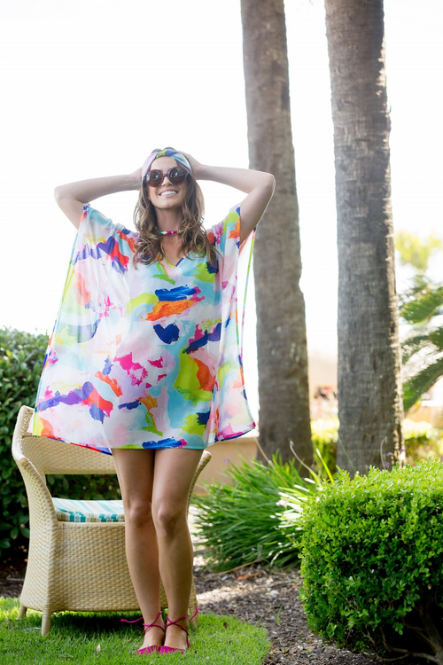 Martin colorful beach cover up caftan