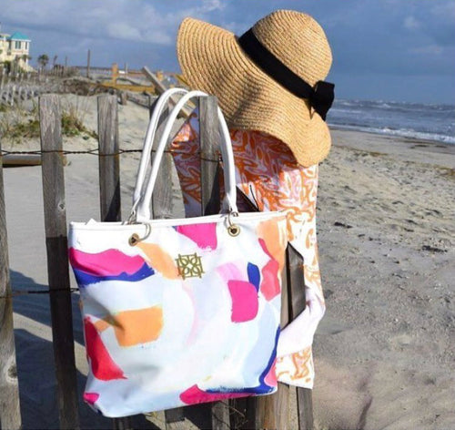 Beach Bag - Carnival - The Blush Label - Vibrant Resort Wear & Home Decor