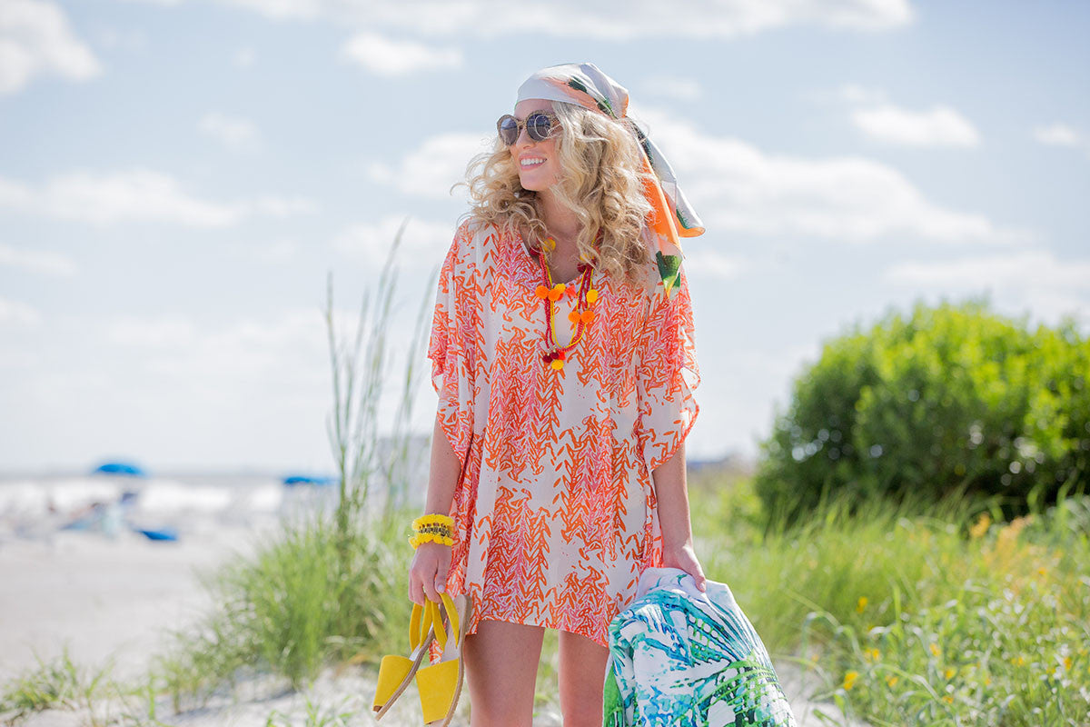 Beach Caftan Cover Up - Marrakesh - The Blush Label - Vibrant Resort Wear & Home Decor