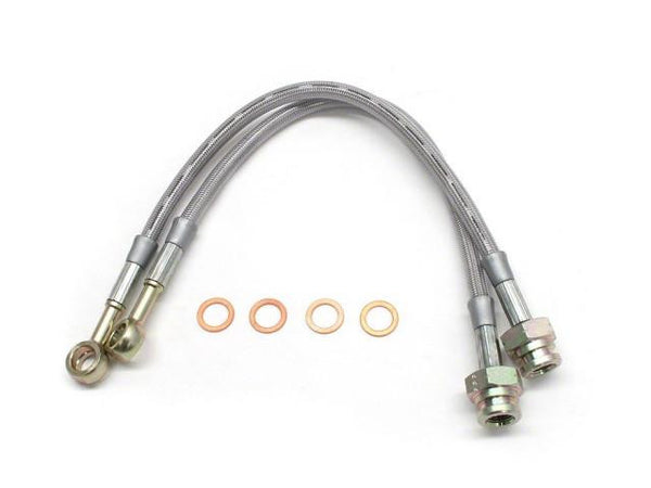 DIFtech Rear Brake Lines for Nissan 240SX Stock Braided Stainless Steel 10098 - Diftech