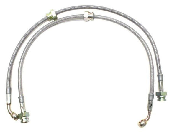 DIFtech Front Brake Lines for Nissan 240SX Stock Braided Stainless Steel 10099 - Diftech