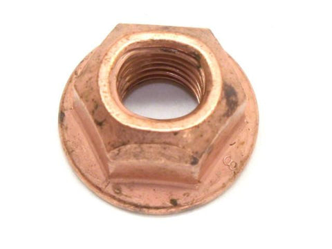 DIFtech Exhaust Nut M8 x 1.25 Top Lock Flange Copper 13mm Hex 10429 - Diftech