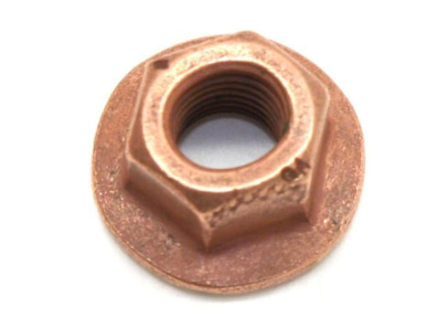 DIFtech Exhaust Nut M7 x 1.00 Top Lock Flange Copper 11mm Hex 10427 - Diftech