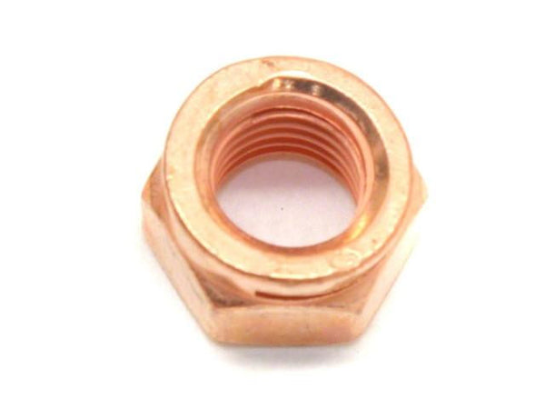 DIFtech Exhaust Nut M8 x 1.25 Slit Locking Head Copper 13mm Hex 10423 - Diftech