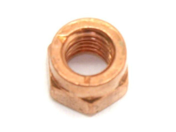 DIFtech Exhaust Nut M6 x 1.0 Slit Locking Head Copper 9mm Hex 10421 - Diftech
