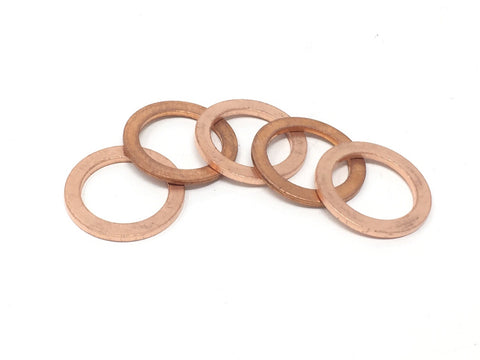 DIFtech Copper Sealing Washers - M14 Pack of 5 10520 - Diftech