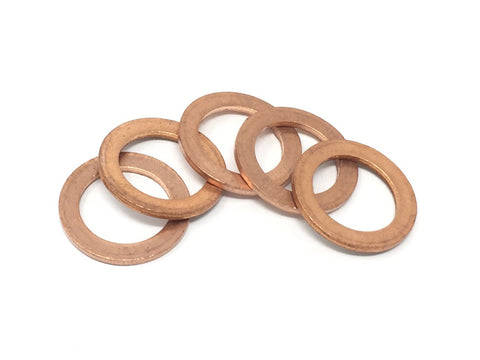 DIFtech Copper Sealing Washers - M12 Pack of 5 10521 - Diftech
