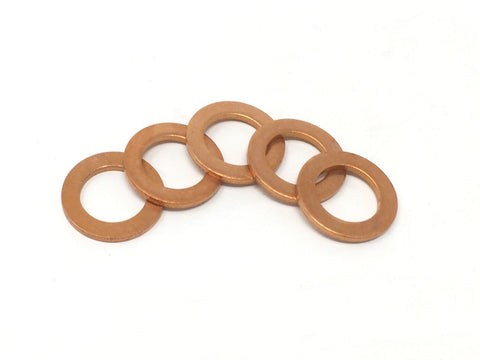DIFtech Copper Sealing Washers - M10 Pack of 5 10522 - Diftech